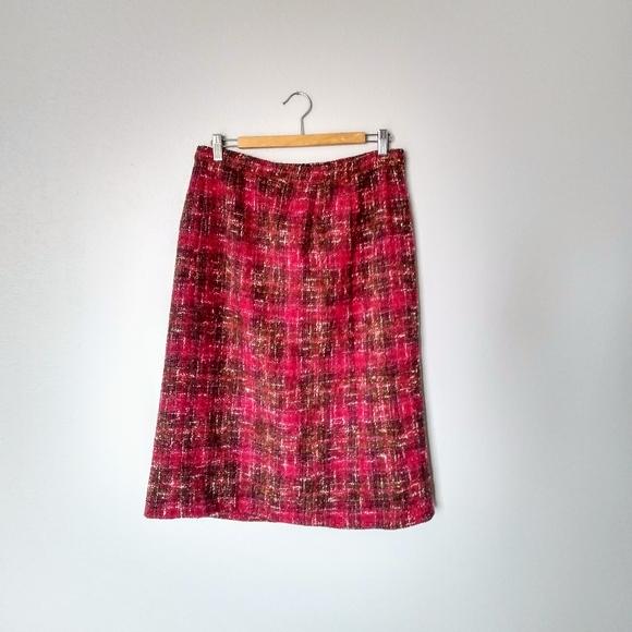 Vintage William H. Davidow Wool Boucle Skirt
